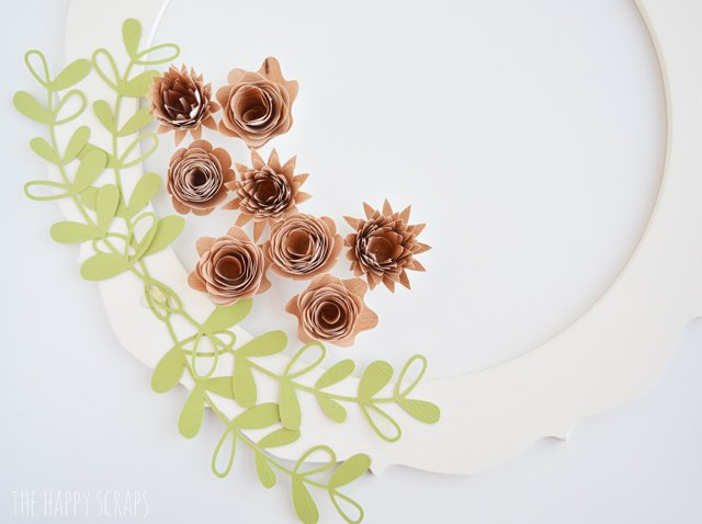 If you're looking for a pretty wreath for Spring or even to leave up all year, check out this Rolled Wood Flower Wreath that I made with the help of my Cricut Explore Air 2. I'm sharing it on the blog.