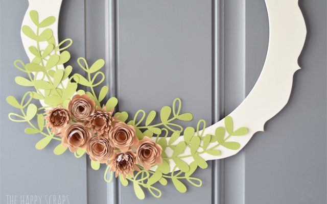 Rolled Wood Flower Wreath