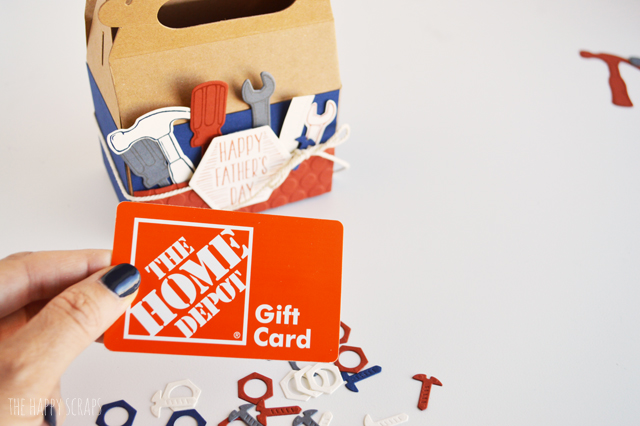 Father's Day Tool Box Gift Card Holder - The Happy Scraps Happy Gift Card Home Depot