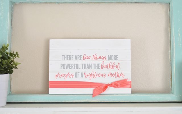 Mother's Day Sign Gift Idea