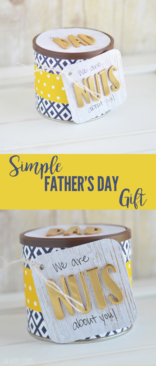 You'll have this Simple Father's Day Gift put together in no time! Dad will love having a little some thing to snack on at home or work.