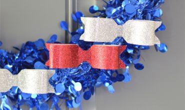 Red, White & Blue Patriotic Wreath