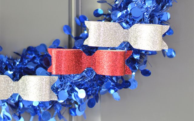 Red, White & Blue Patriotic Wreath