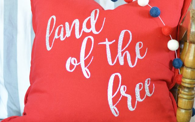 Land of the Free 4th of July Pillow