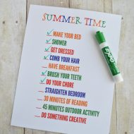 Summer Time Daily Checklist Printable