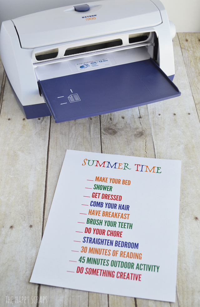 Need something to help your kids stay on a schedule this summer? Try this Summer Time Daily Checklist Printable! My kids are loving it!