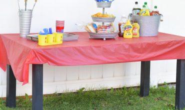 Backyard Hot Dog Roast Get Together