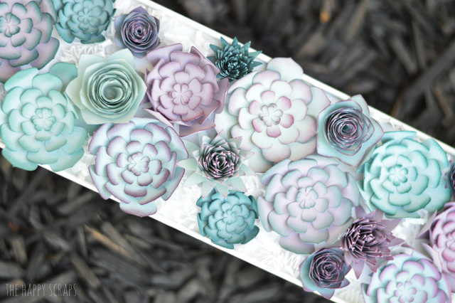 Create a stunning Paper Succulent Centerpiece that doesn't need to be watered or taken care of. It's a great piece for anywhere in the home!