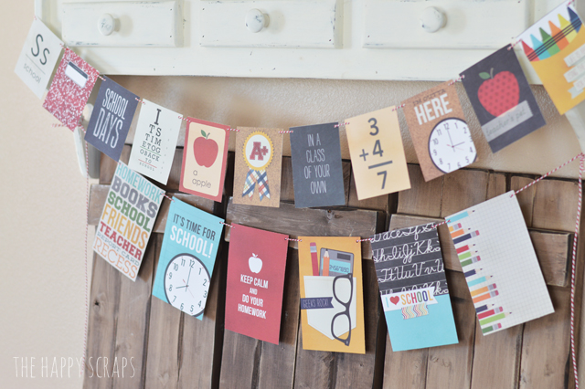 Back to School Decorating doesn't have to be expensive or difficult. You can find many items in your home + create some simple banners.