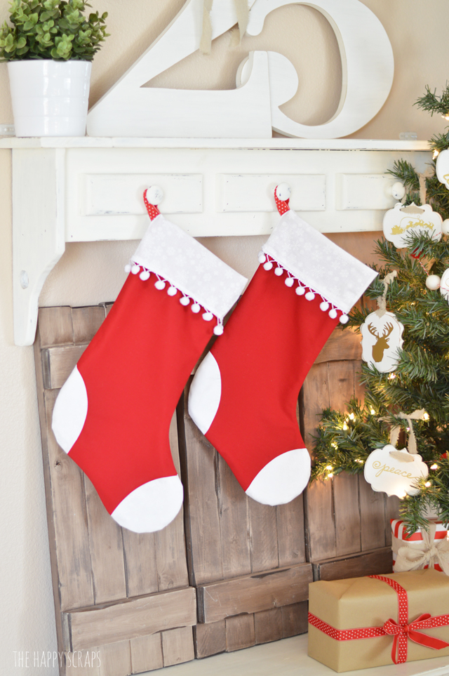 The Cricut Maker takes the guess work out of these Handmade Christmas Stockings. They come together perfectly since they have perfect cuts.