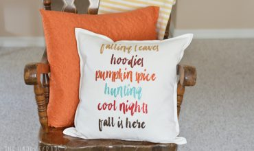 Fall is Here – Fall Pillow with the Cricut EasyPress
