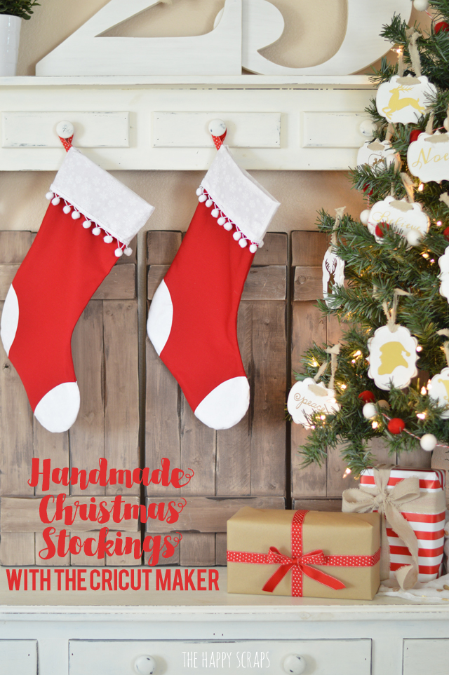 the cricut maker takes the guess work out of these handmade christmas stockings they come - Handmade Christmas Stockings