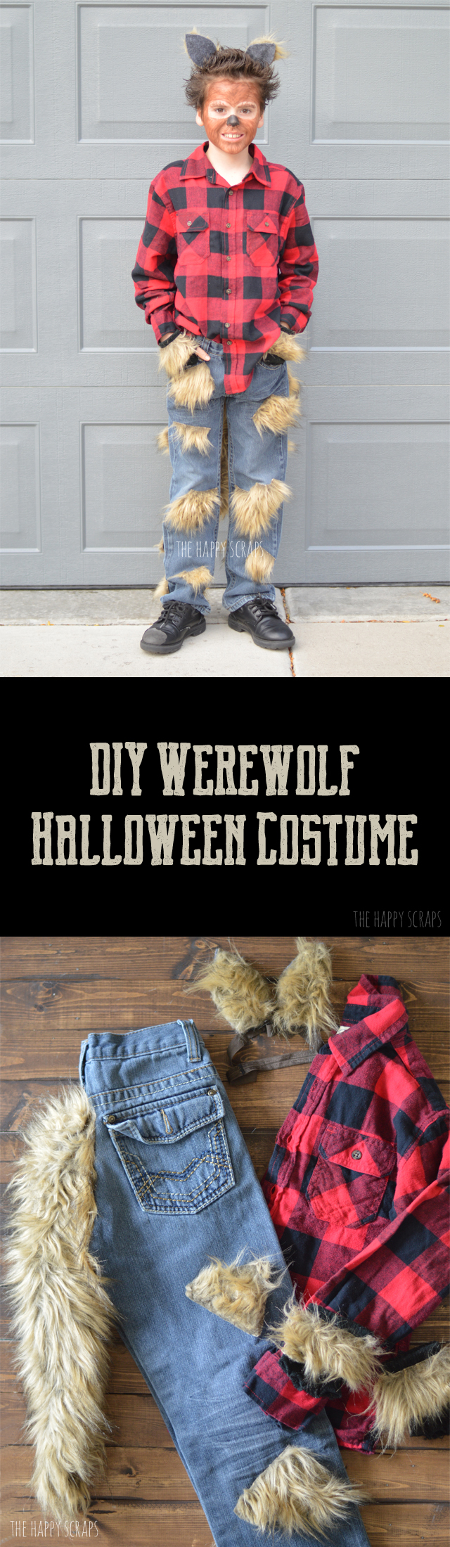 Putting together a DIY Werewolf Halloween Costume doesn't have to be hard. Stop by the blog to see how easy this costume was to make.