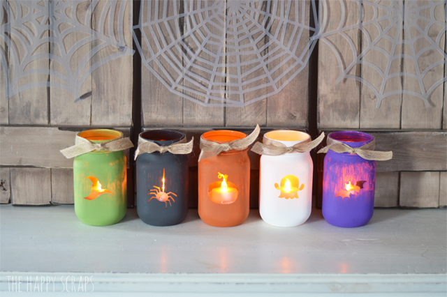 Stop by and check out these fun Painted Halloween Luminary Jars. I've got the tutorial on the blog + see what one of my must haves is for my craft room.