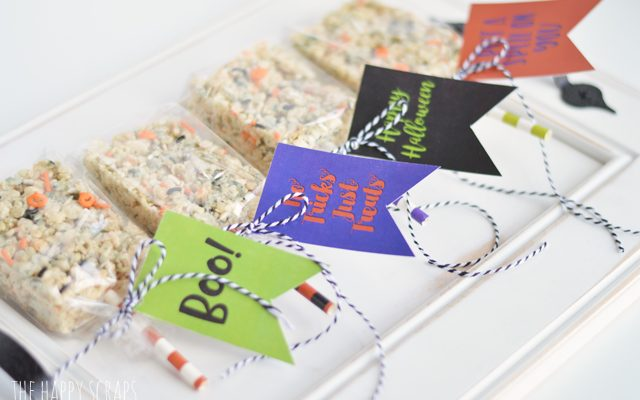 Halloween Treats with Printable Tags