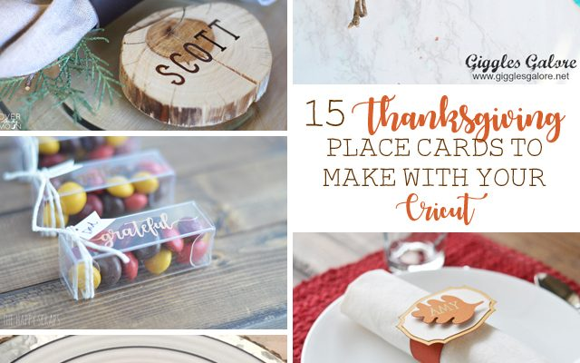 15 Thanksgiving Place Cards to Make with Your Cricut