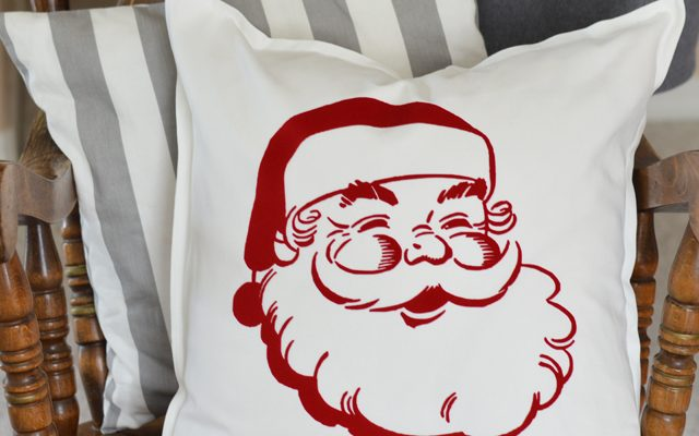 Vintage Santa Claus Christmas Pillow