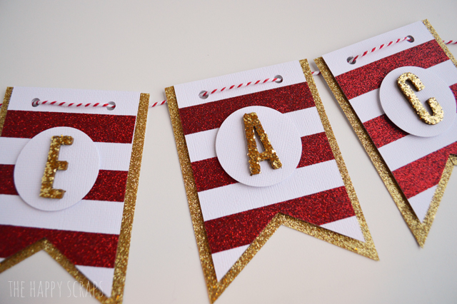 DIY Glittery Peace on Earth Banner - The Happy Scraps