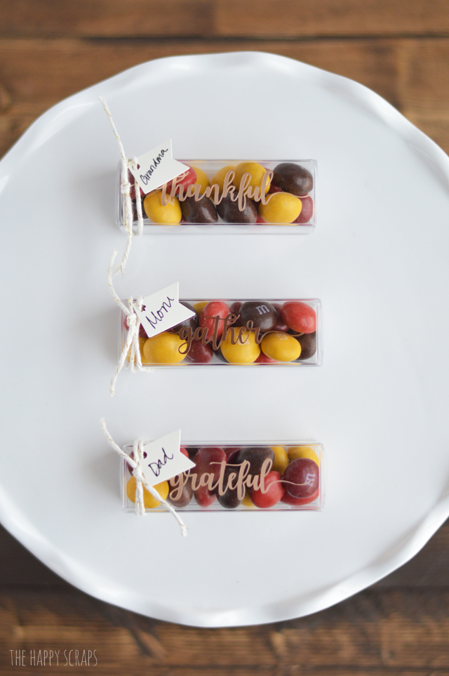 These Simple & Elegant Thanksgiving Place Cards will be so quick to put together, it won't matter how many you need to make! Get the details on the blog.