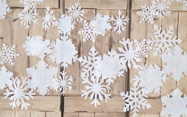Crepe Paper Hanging Snowflakes with the Cricut Maker