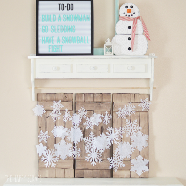 Every home needs some Crepe Paper Hanging Snowflakes for the winter season. Check out how easy this display was to make using my Cricut Maker.