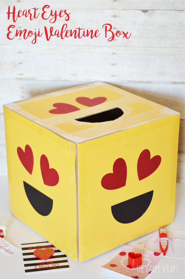 Heart Eyes Emoji Valentine Box The Happy Scraps