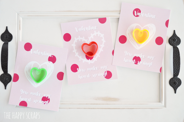 This You Make My Heart Spring Valentine is the perfect thing for your kids to hand out to their class. The kids will love it!