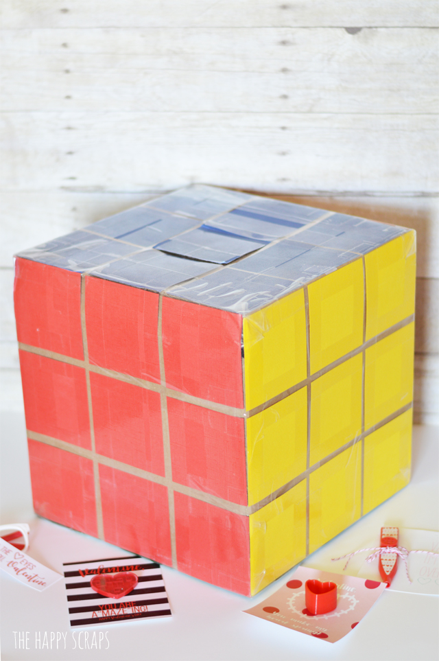 Putting together a Valentine box for your child to take to school doesn't have to be complicated. I'm sharing how easy this Rubik's Cube Valentine Box was to make over on the blog.