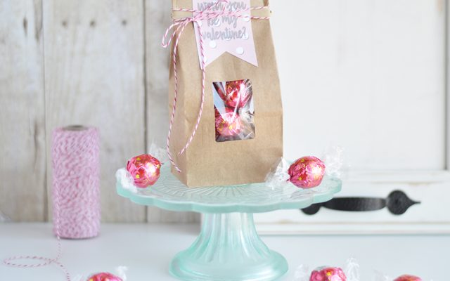 Valentine Treat Bag with Printable Tag