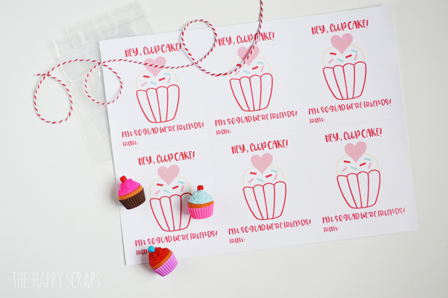 This cute Hey, Cupcake Classroom Valentine is so quick and easy to put together. You'll have an entire classes worth put together in no time!