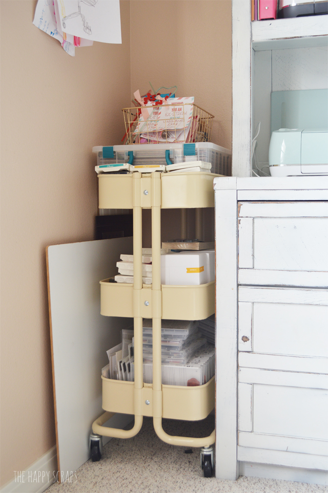 Cute Functional Craft Room On A Budget The Happy Scraps