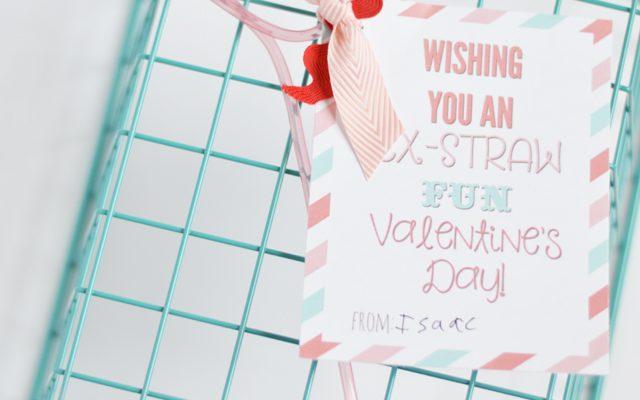 Ex-Straw Fun Classroom Valentine