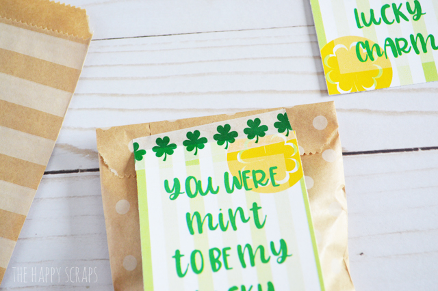 Put together these fun little You Were Mint to be My Lucky Charm Treat Bags to give your kids, spouse or even to some friends. If they like mint, they will love these!