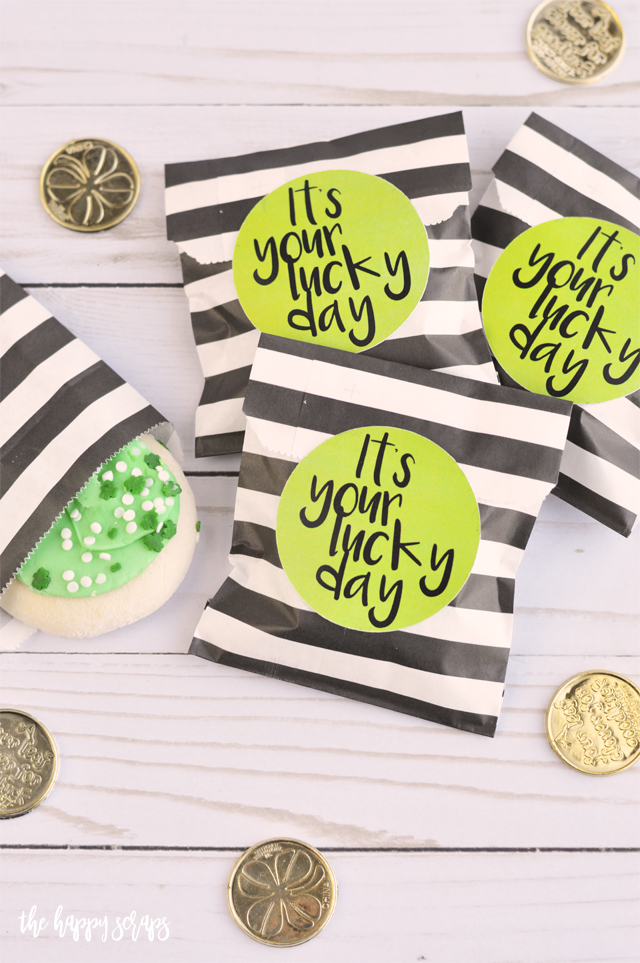 This It's Your Lucky Day St. Patrick's Day Printable Tag is the perfect little gift to give your kids for St. Patrick's Day. It goes together SO quickly and the kids are sure to love it!