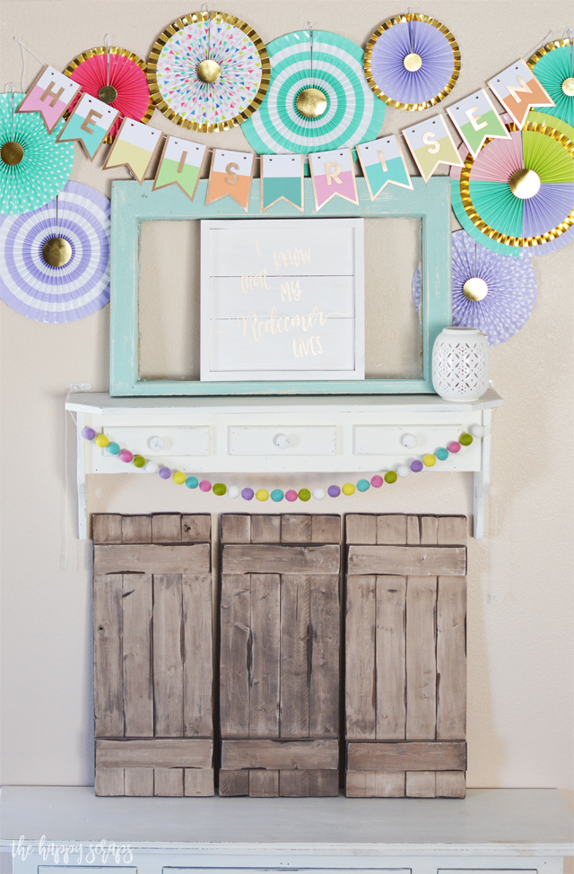 Putting together this He Is Risen Easter Banner is a simple and quick project. Easter may be right around the corner, but you still have time to get this put together and it will be ready to be used next year too!
