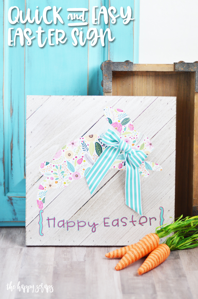 This Quick & Easy Easter Sign is the perfect afternoon project and it will be the perfect addition to the Easter decor that you already have. Get the how-to from The Happy Scraps.