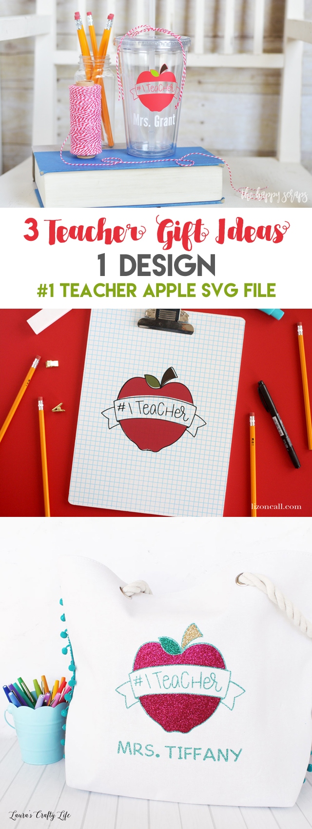 Putting together this End of Year Teacher Gift with SVG Cut File is easy + quick to do. Get all the details for creating your own and the link to the SVG file in the post.