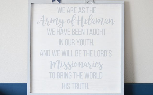 Army of Helaman Bedroom Sign