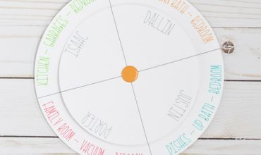 Draw & Cut Chore Chart with Curved Text in Cricut Design Space