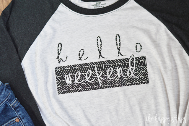 Be ready for the weekend with your new Hello Weekend Shirt with Cricut Patterned Iron-on. This new Iron-on will take your iron-on game to the next level! It's so fun to use!