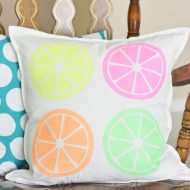 DIY Citrus Throw Pillow