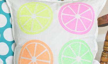 DIY Citrus Throw Pillow