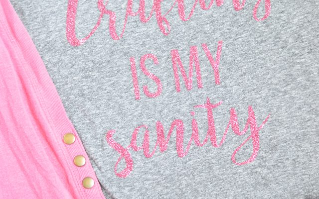 Crafting is my Sanity Glitter Tee