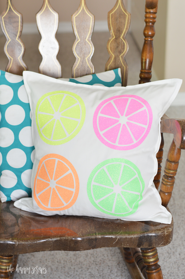 This DIY Citrus Throw Pillow is the perfect addition to summer decor in your home or on your porch. Stop by the blog to get the details for making your own.