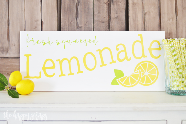 Creating this Fresh Squeezed Lemonade DIY Summer Sign is easy with this tutorial + it will brighten your home for summer time.