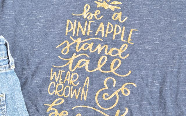 Be A Pineapple Glitter Tee