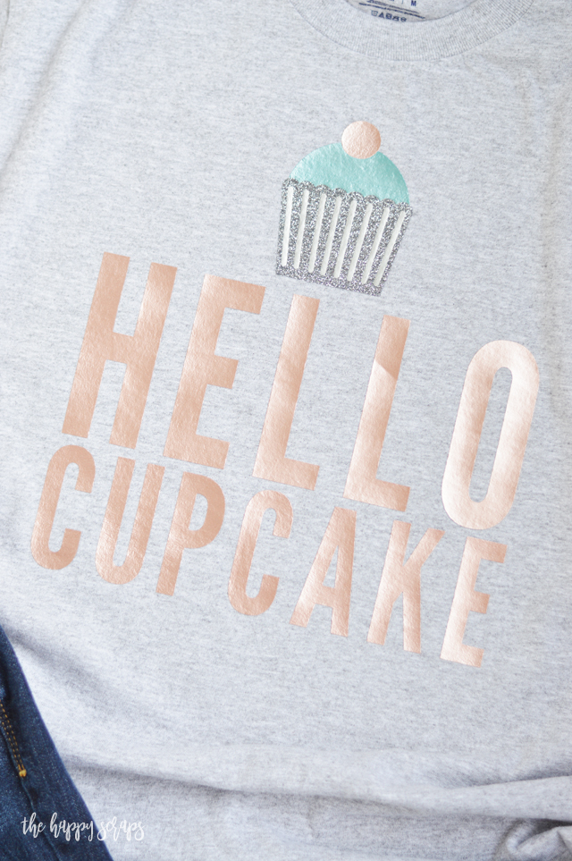 Everyone needs more cupcakes in their life, right? Make yourself this Hello Cupcake T-Shirt. It's super cute and fun to wear!