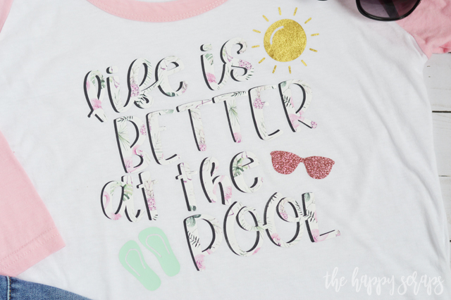 This Life is Better at the Pool Summer Shirt is a must have for this summer! Get all the details for creating your own on the blog.