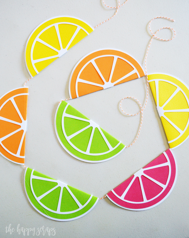 Everyone needs this Colorful Summer Citrus Banner! It's perfect for decorating for summer or you could use if for a fun summer party!