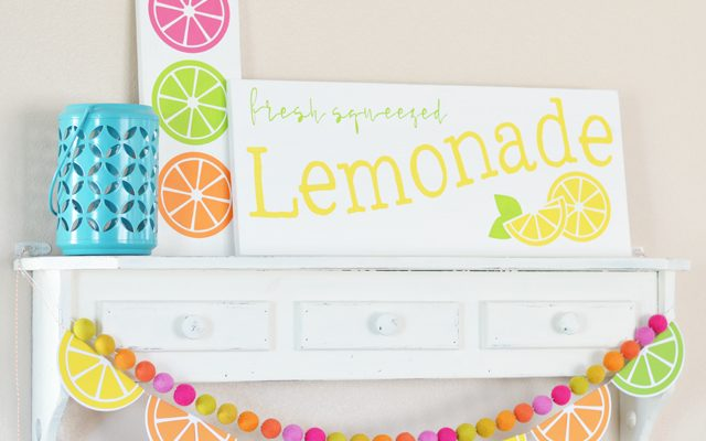 Colorful Citrus Summer Decor